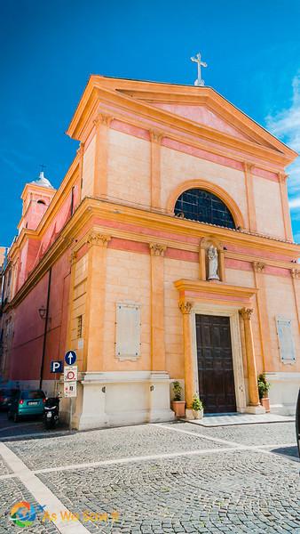 view of front of Chiesa della SS. Concezione, door closed