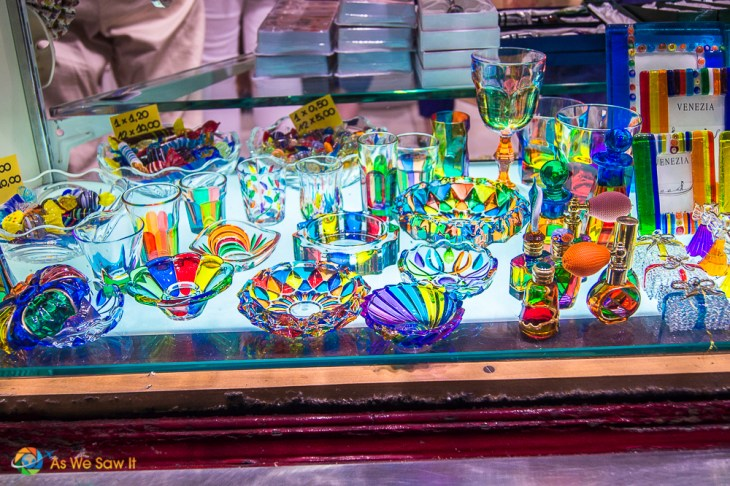 Colorful Venetian glass in Venice, Italy