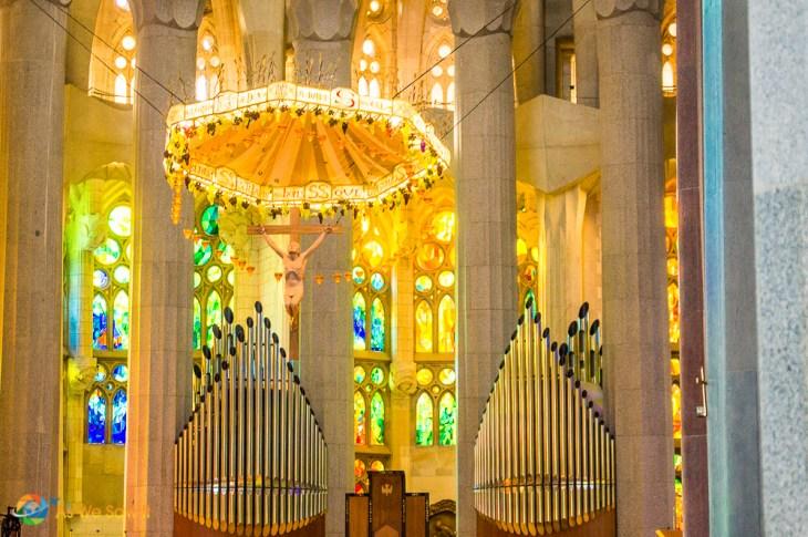 Altar inside the Sagrada Familia