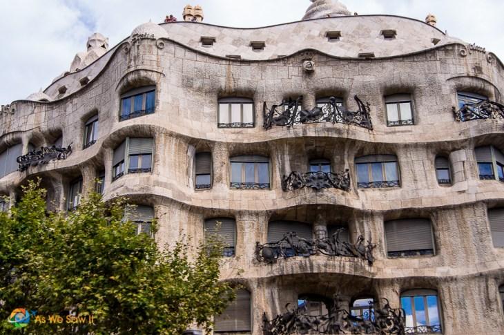 Details of Case Mila in Barcelona by Gaudi