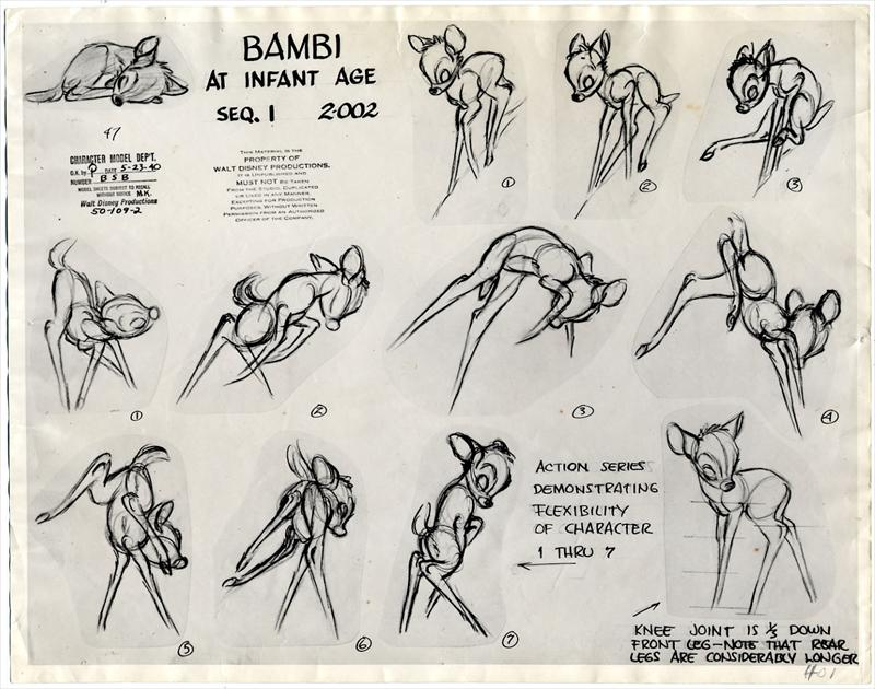 bambi, disney, animation, animation history, cartoon