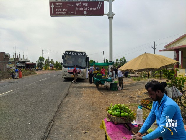 A tropic of cancer street moment in Madhya Pradesh