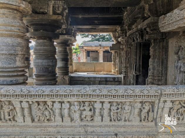 The lathe turned pillars of Lakshmi Narasimha Temple, Javagal, Karnataka
