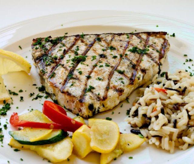 Grilled Swordfish Steaks With Yucatan Orange Herb Paste