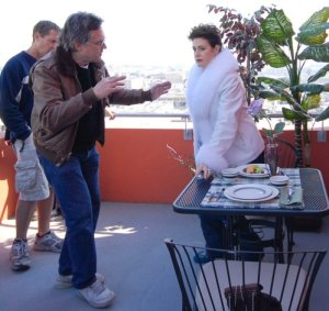 William Malone directs Sean Young.