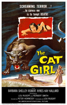 Despite the poster, the film's onscreen title is only CAT GIRL