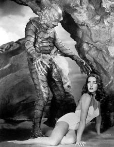 Julie Adams in a posed publicity shot with the Creature
