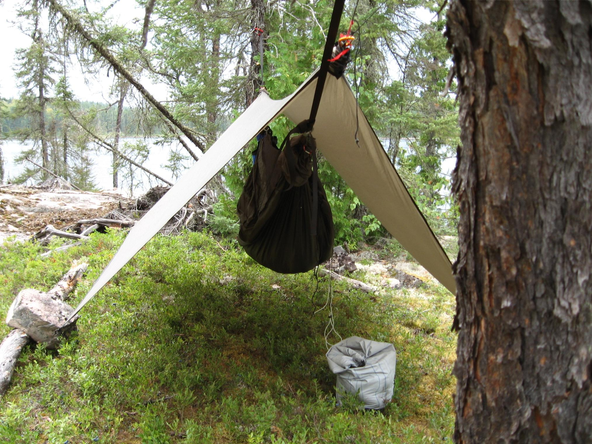 Bwca Hennessey Hammock Rain Fly Set Up Boundary Waters