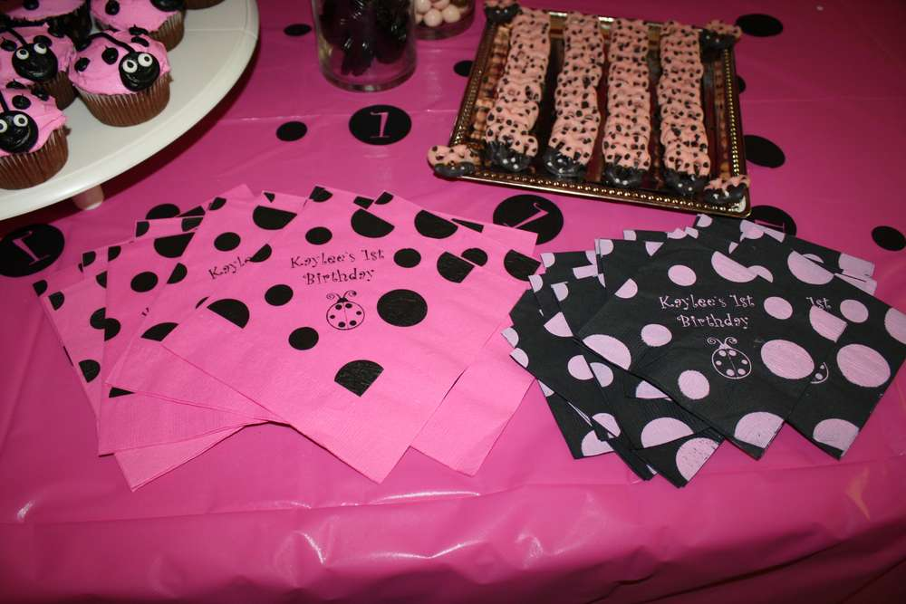 Ladybug Pink And Black Birthday Party Ideas
