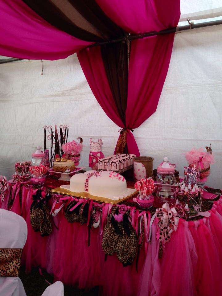 PinkCheetah Baby Shower Party Ideas Photo 1 Of 16