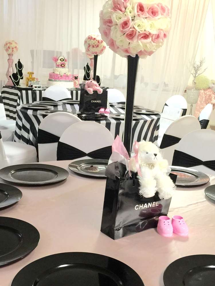 Chanel Baby Shower Party Ideas Photo 16 Of 19 Catch My
