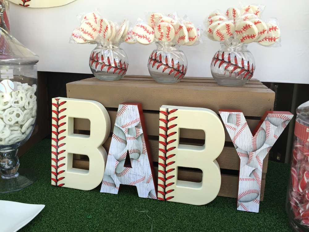 Baseball Baby Shower Party Ideas Photo 3 Of 18 Catch