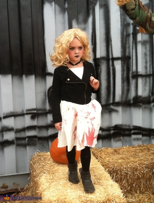 Homemade Bride of Chucky Costume for Girls