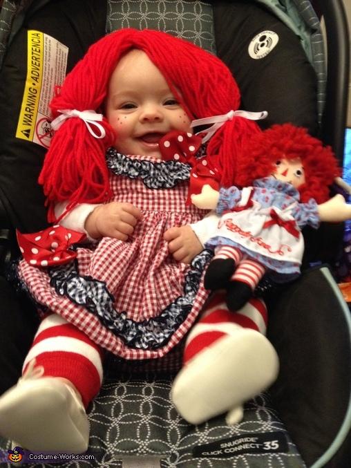 Handmade Raggedy Ann Baby Costume