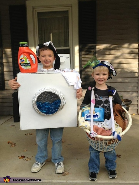 Washing Machine and Laundry Basket Costumes