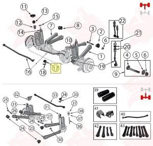 52088524  Coussin de barre stabilisatrice, avant  LOUP PIECES Pièces & Accessoires  H Heinz