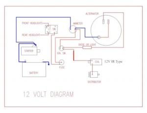 Wiring Diagram for Key Start & 12 Volt Alternator Conversion  Farmall Cub