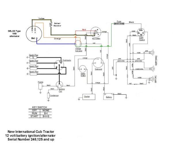 farmall cub tractor 12 volt wiring diagram: 1952 farmall cub wiring diagram  - dolgular