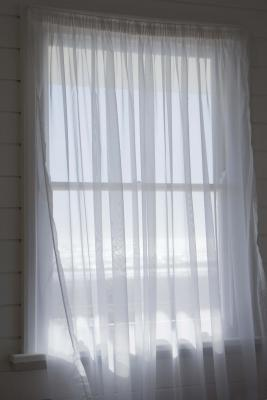 knotted curtain valance out of sheers
