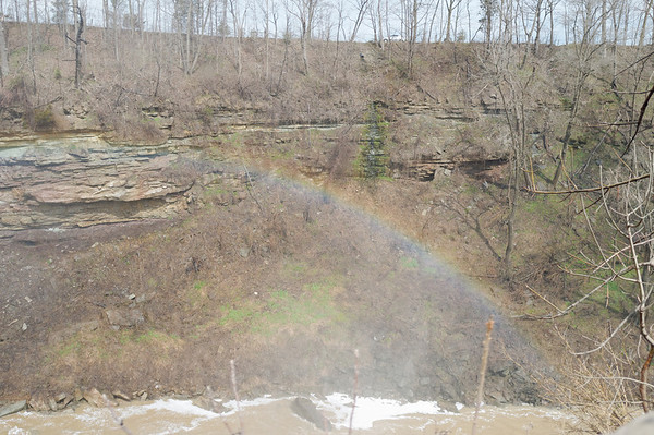 A rainbow next to Ball's Falls