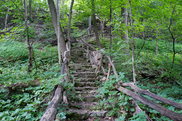 Encountered a lot of these staircases along this section of the route.