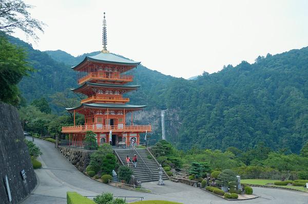 A view of of the Nachi-san pagoda - Seiganto-ji.