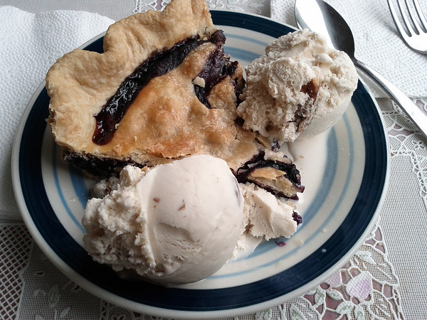 Fantastic blueberry pie from the Aroma Pie Shoppe