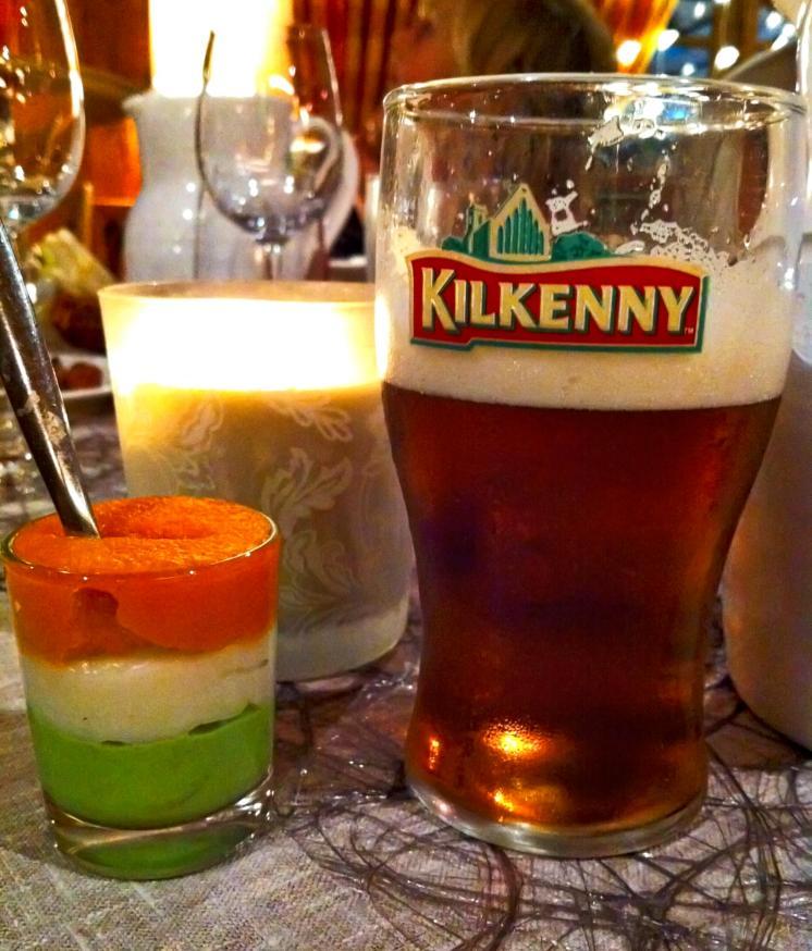 Biere irlandaise et verrine