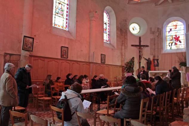Dans l'église de Courpalay