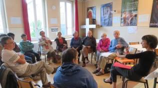 Rencontre au presbytère pour parler de l'architecture urbaine végétale
