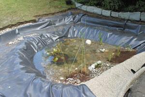 installer une bache pour bassin gamm vert
