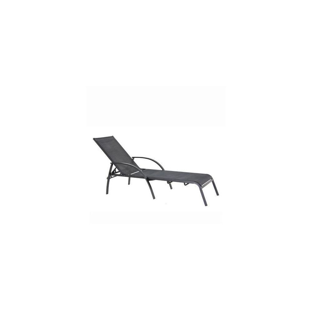 bain de soleil en textilene noir gris anthracite