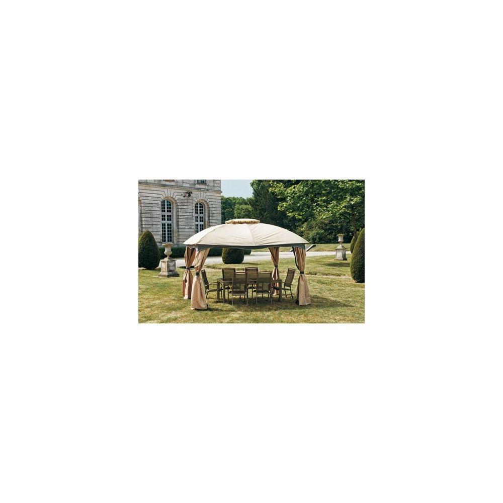 tonnelle de jardin andalou 3 x 3 65 m avec rideaux et moustiquaires inclus