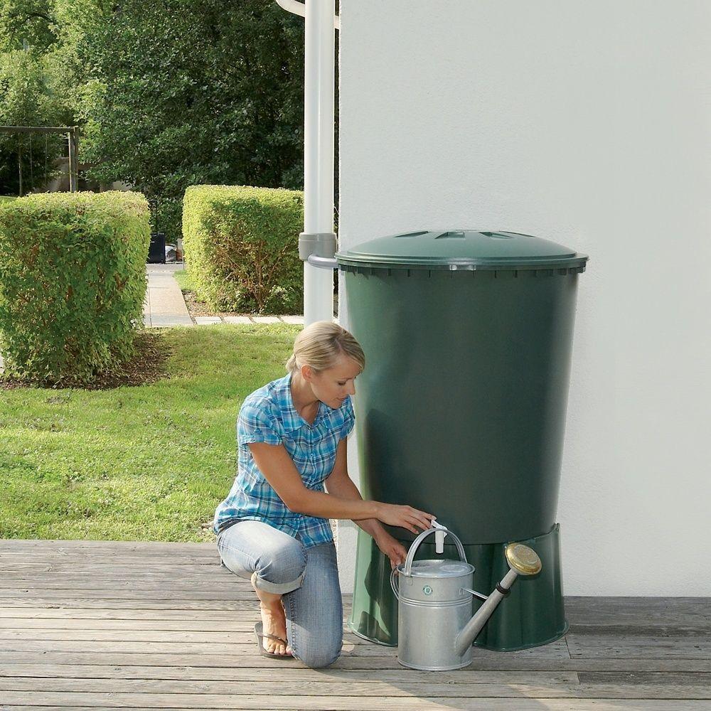 recuperateur d eau cylindrique vert 310l garantia
