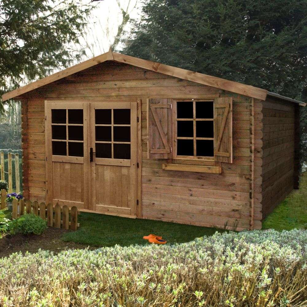 abri de jardin bois traite autoclave zahora 17 39 m ep 28 mm