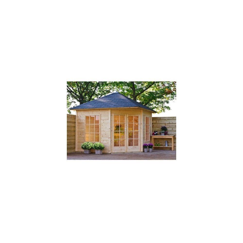 abri de jardin d angle jessica 8 25 m bois 21 mm avec plancher