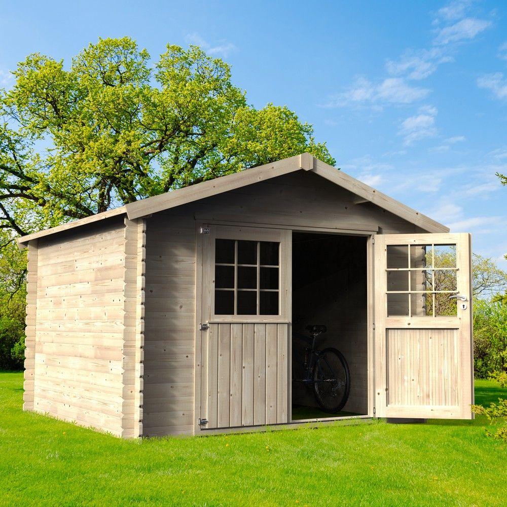 abri de jardin bois flover 9 99 m ep 28 mm
