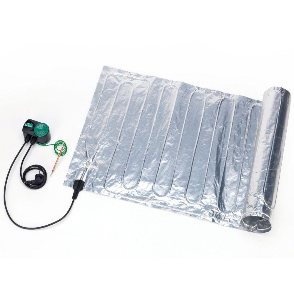tapis chauffant avec thermostat 40 x 120 cm 85 w biogreen