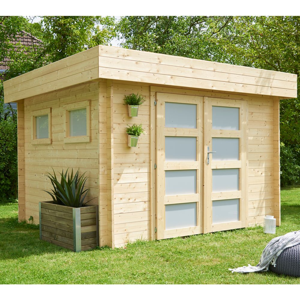 abri de jardin toit monopente