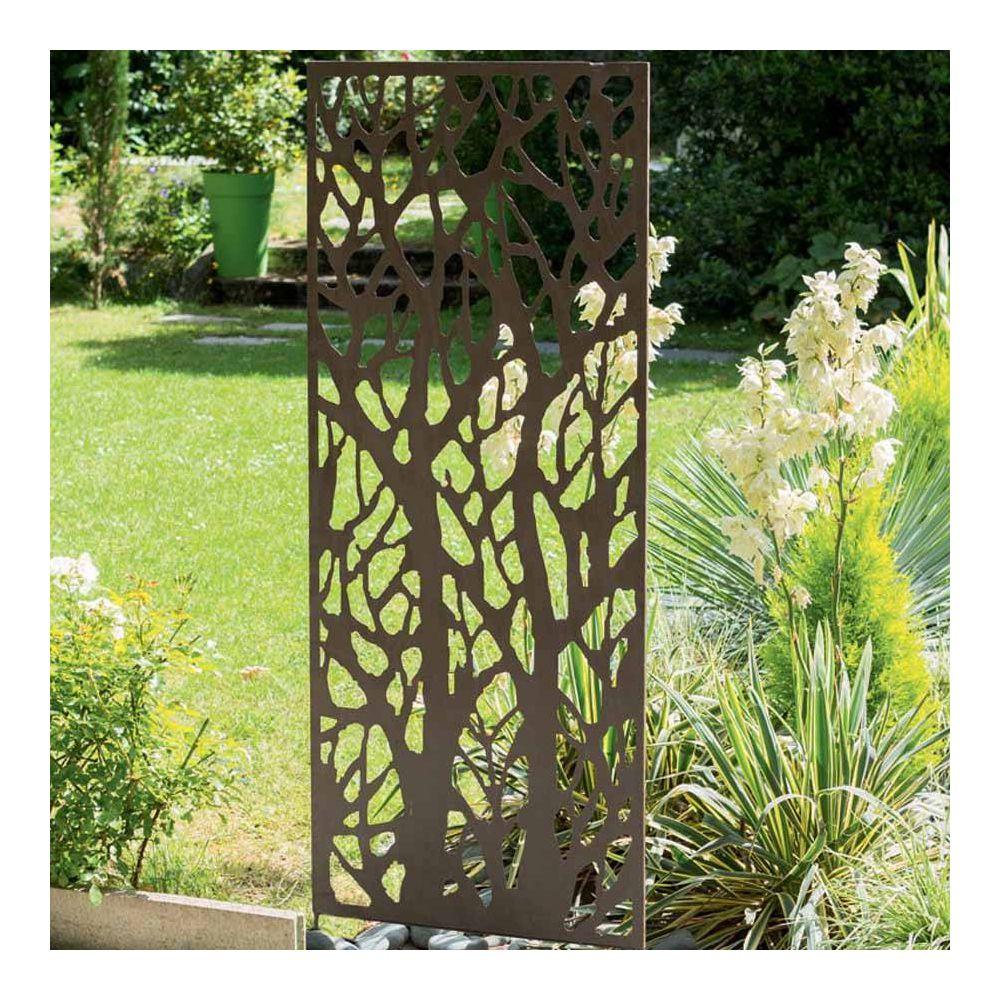 panneau decoratif nortene en metal avec motifs ajoures