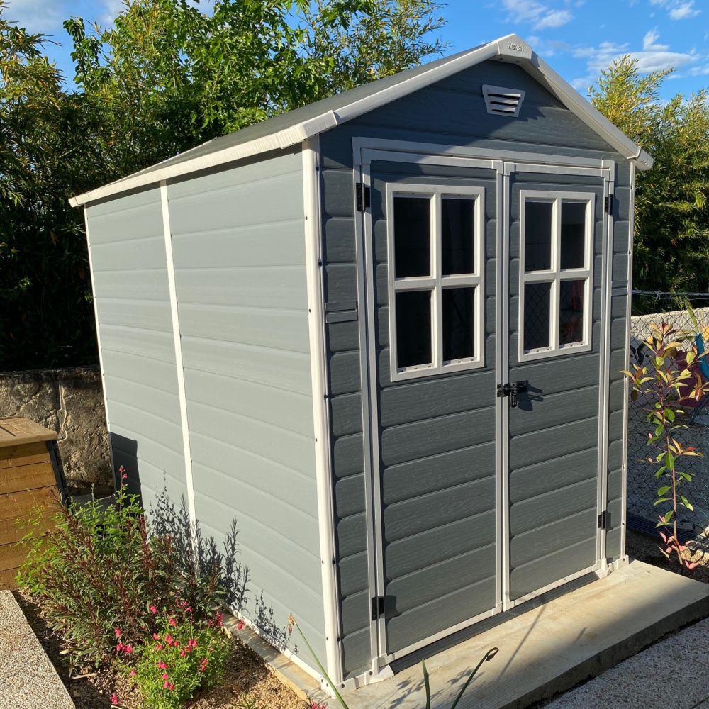 abri de jardin resine keter premium 86 4 40 m ep 16 mm