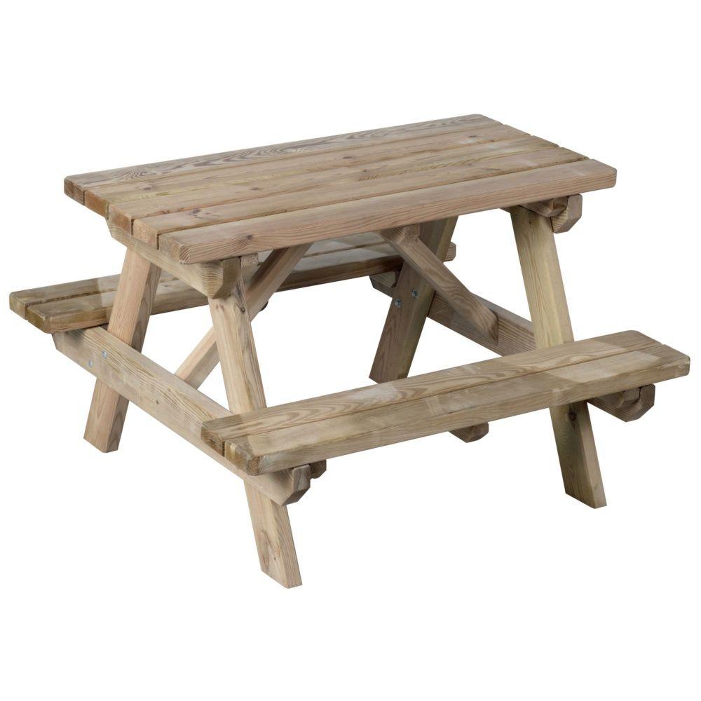 table de pique nique enfant bois