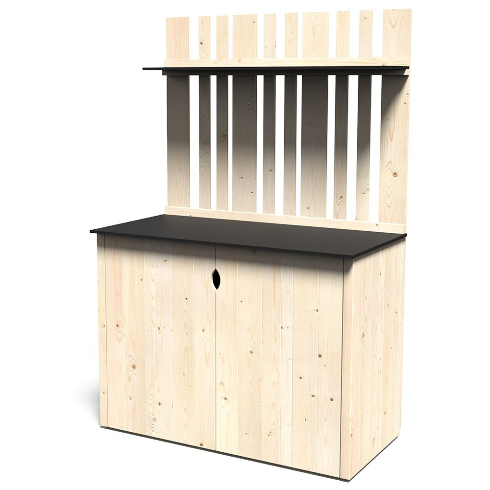 armoire de jardin bois vertigo l122 h180 cm