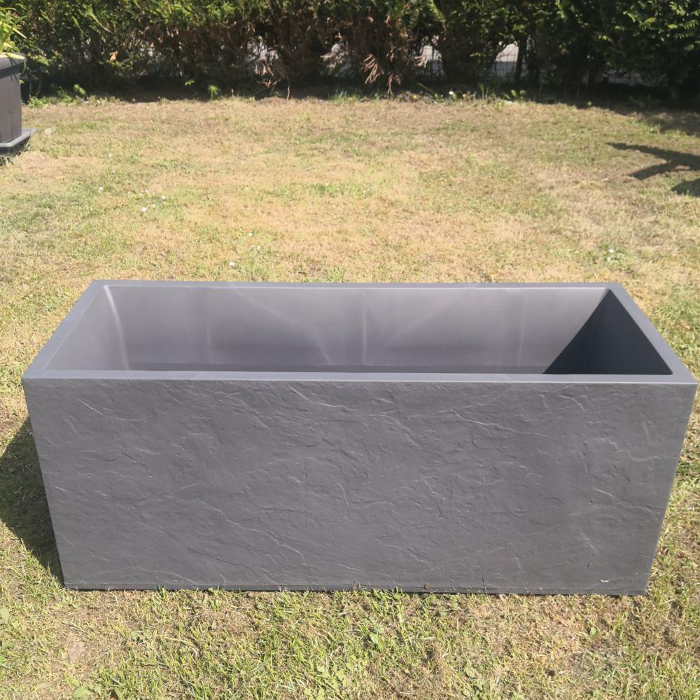 jardiniere volcania plastique l99 5 h43 98l gris anthracite