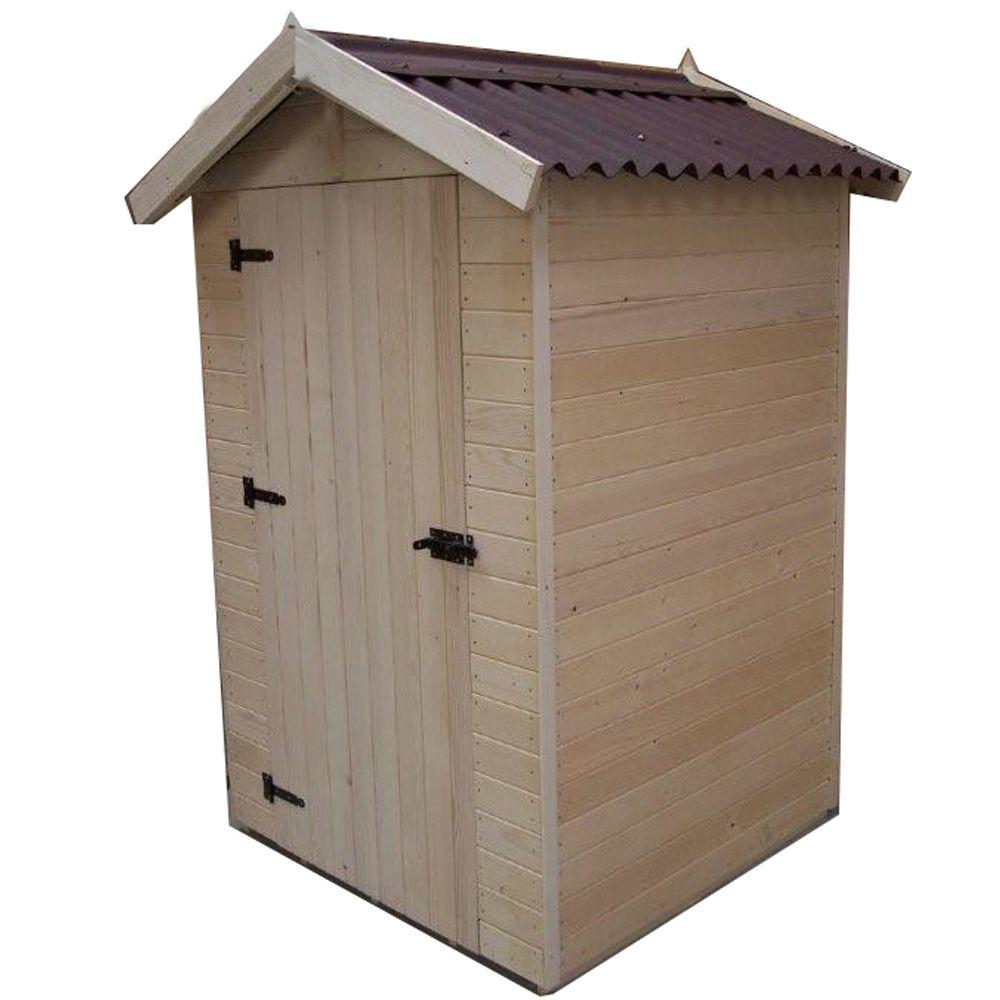 abri de jardin bois habrita 2 03 m ep 16 mm avec montage