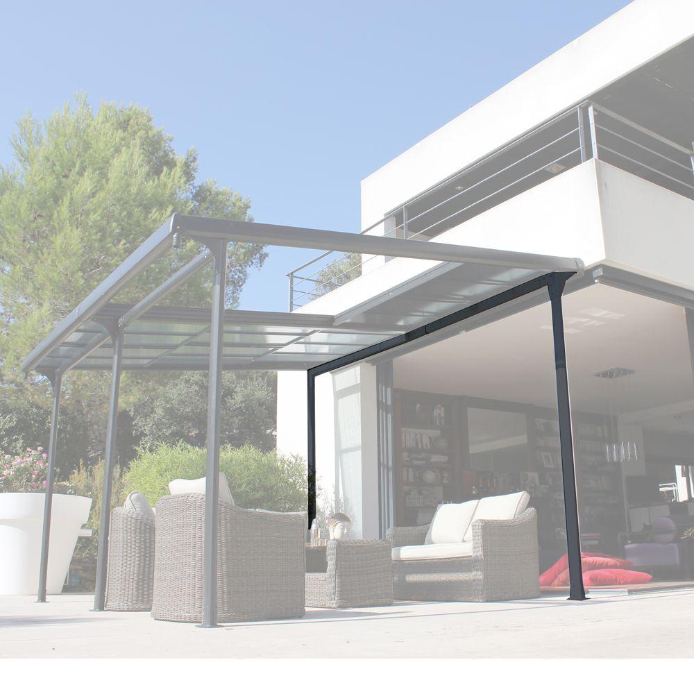 tonnelle autoportante aluminium toit polycarbonate 4x3 5 m azura