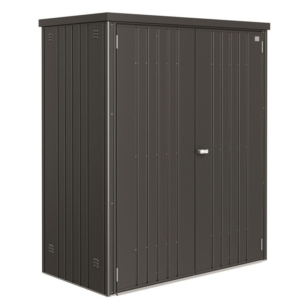armoire de jardin metal l155 h182 5 cm biohort gris fonce