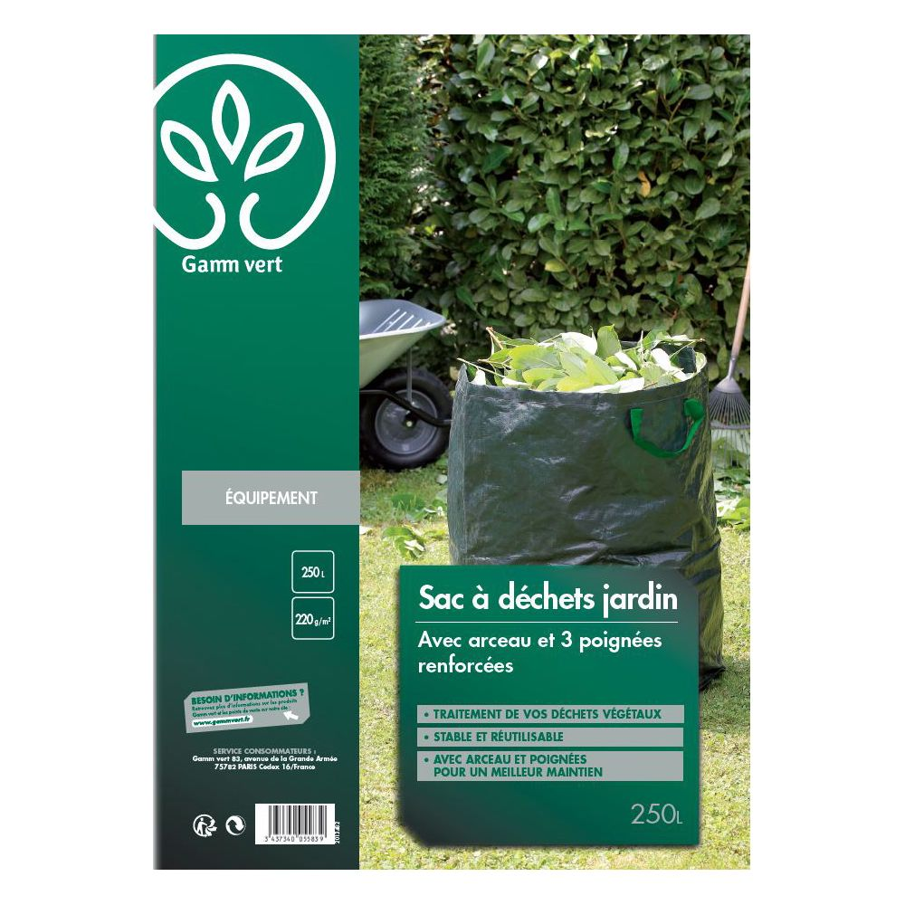 sac a dechets pretisse 250 l gamm vert