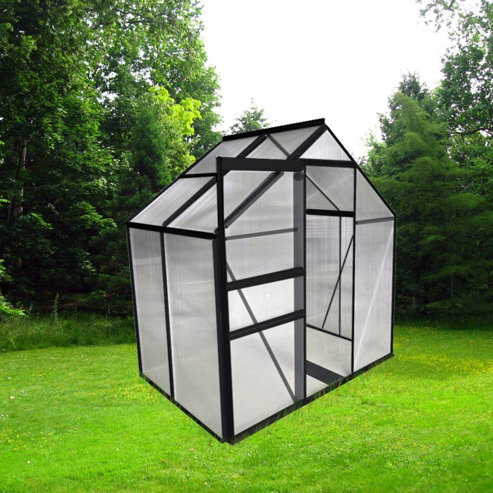 serre polycarbonate anthracite 2 30 m chalet jardin