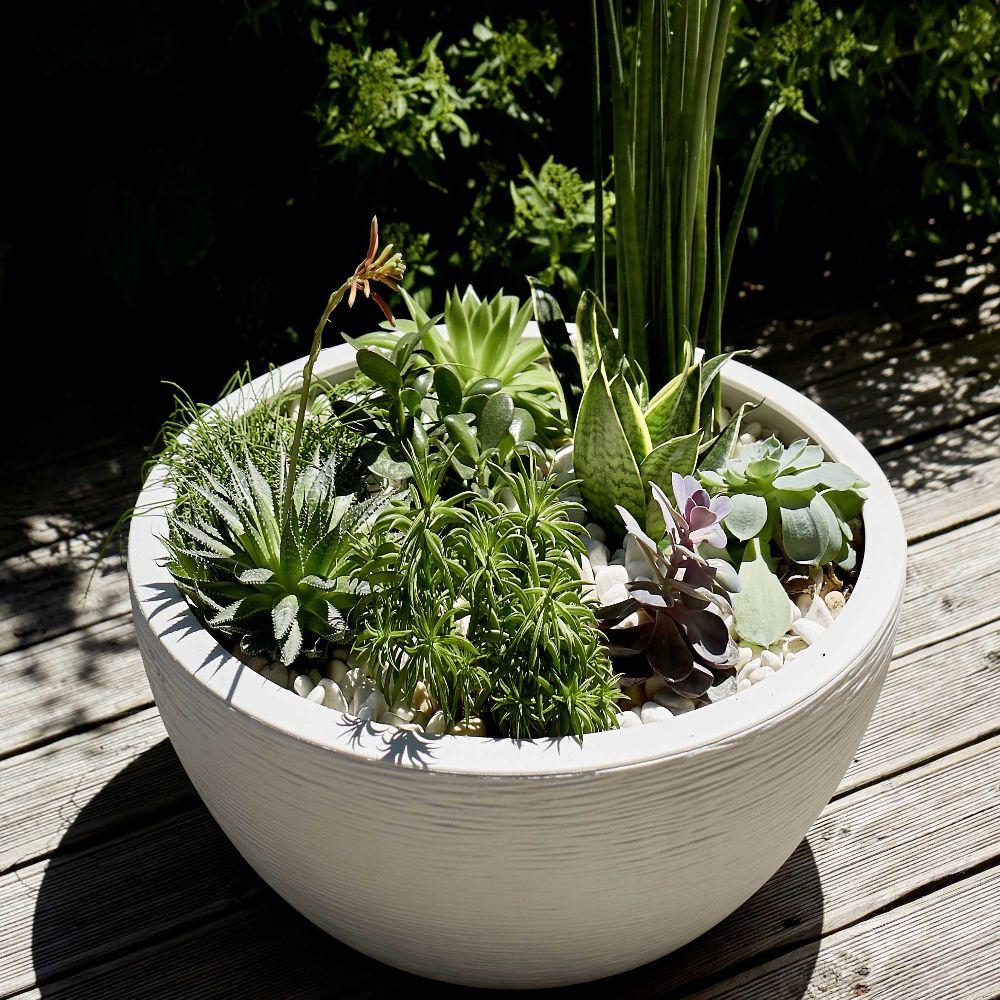 vasque eda graphit plastique o59 h21 cm 39l blanc